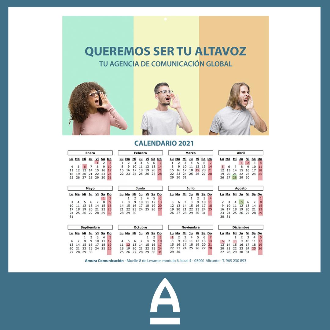 calendarios personalizados - Amura Comunicación