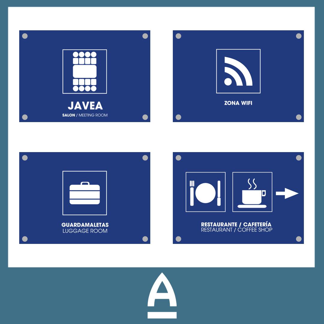 Señalización de hotel - Amura Comunicación